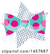 Clipart Of A Pop Art Bow Tie Over A Halftone Star Royalty Free Vector Illustration