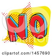 Clipart Of A Comic Styled Pop Art No Word Bubble Royalty Free Vector Illustration