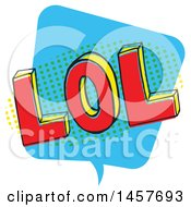Clipart Of A Comic Styled Pop Art Lol Word Bubble Royalty Free Vector Illustration