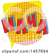 Clipart Of A Comic Styled Pop Art Haha Word Bubble Royalty Free Vector Illustration by Cherie Reve