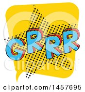 Clipart Of A Comic Styled Pop Art Grrr Word Bubble Royalty Free Vector Illustration