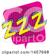 Clipart Of A Comic Styled Pop Art Zzz Word Bubble Royalty Free Vector Illustration
