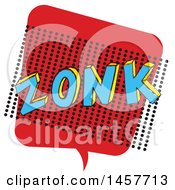Clipart Of A Comic Styled Pop Art Zonk Sound Bubble Royalty Free Vector Illustration