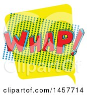 Clipart Of A Comic Styled Pop Art Whap Sound Bubble Royalty Free Vector Illustration