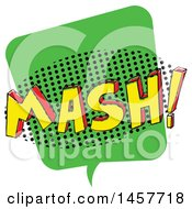 Clipart Of A Comic Styled Pop Art Mash Sound Bubble Royalty Free Vector Illustration