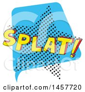 Clipart Of A Comic Styled Pop Art Splat Sound Bubble Royalty Free Vector Illustration