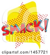 Clipart Of A Comic Styled Pop Art Smack Sound Bubble Royalty Free Vector Illustration