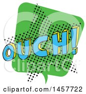 Clipart Of A Comic Styled Pop Art Ouch Sound Bubble Royalty Free Vector Illustration