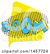 Clipart Of A Comic Styled Pop Art Boom Sound Bubble Royalty Free Vector Illustration
