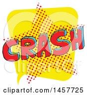 Comic Styled Pop Art Crash Sound Bubble
