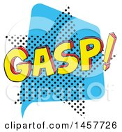 Clipart Of A Comic Styled Pop Art Gasp Sound Bubble Royalty Free Vector Illustration