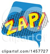 Clipart Of A Comic Styled Pop Art Zap Sound Bubble Royalty Free Vector Illustration
