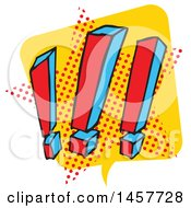 Clipart Of A Comic Styled Pop Art Exclamation Point Word Bubble Royalty Free Vector Illustration