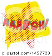 Clipart Of A Comic Styled Pop Art Aaargh Word Bubble Royalty Free Vector Illustration