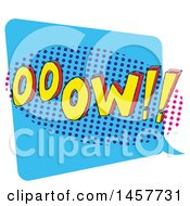 Clipart Of A Comic Styled Pop Art Ooow Word Bubble Royalty Free Vector Illustration