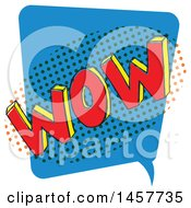 Clipart Of A Comic Styled Pop Art Wow Word Bubble Royalty Free Vector Illustration
