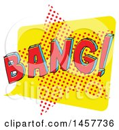 Clipart Of A Comic Styled Pop Art Bang Sound Bubble Royalty Free Vector Illustration