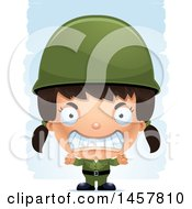3d Mad Hispanic Girl Army Soldier Over Strokes