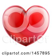 Poster, Art Print Of 3d Reflective Shiny Red Love Heart