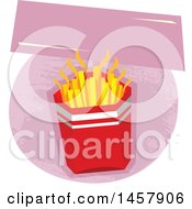 Clipart Of A French Fries Design Royalty Free Vector Illustration by Vector Tradition SM