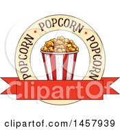 Clipart Of A Sketched Popcorn Design Royalty Free Vector Illustration