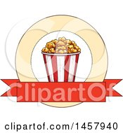 Clipart Of A Sketched Popcorn Design Royalty Free Vector Illustration by Vector Tradition SM