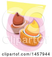 Clipart Of A Cupcake Logo Or Label Royalty Free Vector Illustration