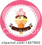 Waffle Ice Cream Cone Design