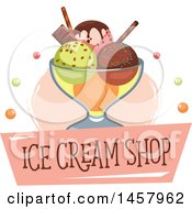 Clipart Of An Ice Cream Sundae Design Royalty Free Vector Illustration by Vector Tradition SM