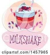 Clipart Of A Milkshake Design Royalty Free Vector Illustration