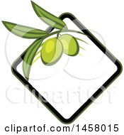 Clipart Of A Green Olive Design Royalty Free Vector Illustration