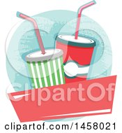 Clipart Of A Fountain Soda Design Royalty Free Vector Illustration