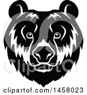 Clipart Of A Black And White Bear Mascot Face Royalty Free Vector Illustration by Vector Tradition SM