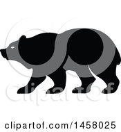 Clipart Of A Black And White Bear Mascot In Profile Royalty Free Vector Illustration by Vector Tradition SM
