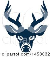 Blue Buck Deer Mascot Face