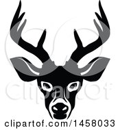 Clipart Of A Black And White Buck Deer Mascot Face Royalty Free Vector Illustration by Vector Tradition SM
