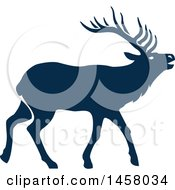 Clipart Of A Blue Elk Royalty Free Vector Illustration by Vector Tradition SM