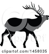 Clipart Of A Black And White Elk Royalty Free Vector Illustration by Vector Tradition SM