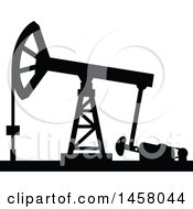 Black Silhouetted Oil Pump