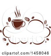 Clipart Of A Brown Cloud Coffee Design Royalty Free Vector Illustration by Vector Tradition SM