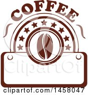 Clipart Of A Brown Coffee Design Royalty Free Vector Illustration by Vector Tradition SM