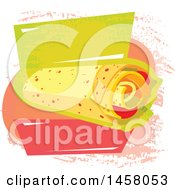 Clipart Of A Wrap Design Royalty Free Vector Illustration