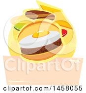 Clipart Of A Breakfast Design Royalty Free Vector Illustration