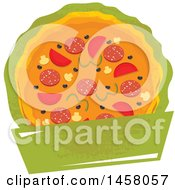Clipart Of A Pizza Design Royalty Free Vector Illustration by Vector Tradition SM