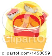 Clipart Of A Potato Chips Design Royalty Free Vector Illustration by Vector Tradition SM