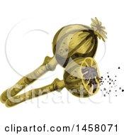 Clipart Of Poppy Royalty Free Vector Illustration