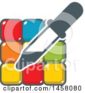 Poster, Art Print Of Color Dropper Art Tool Over Tiles