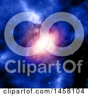 Clipart Of A 3d Nebula And Sky Background Royalty Free Illustration