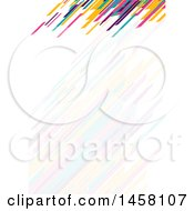 Clipart Of A Colorful And Faded Lines Letterhead Background Royalty Free Vector Illustration