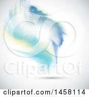Clipart Of A Backgroundo F Blue Green And Yellow Halftone Dots On Shading Royalty Free Vector Illustration
